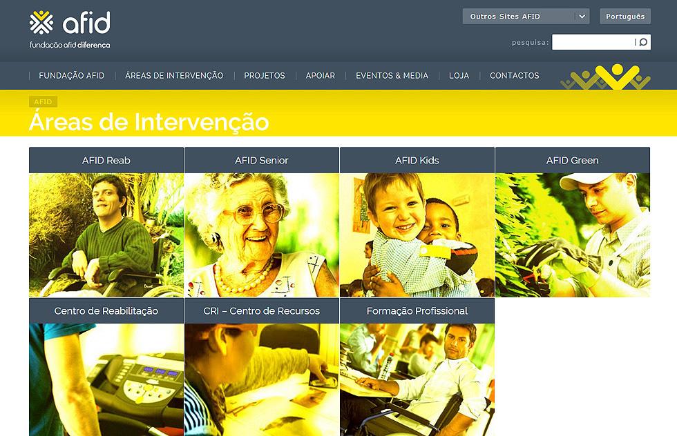 Websites Fundação AFID