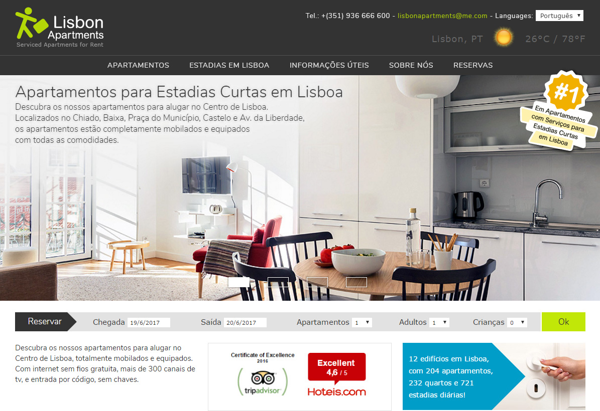 Lisbon Apartments Site
