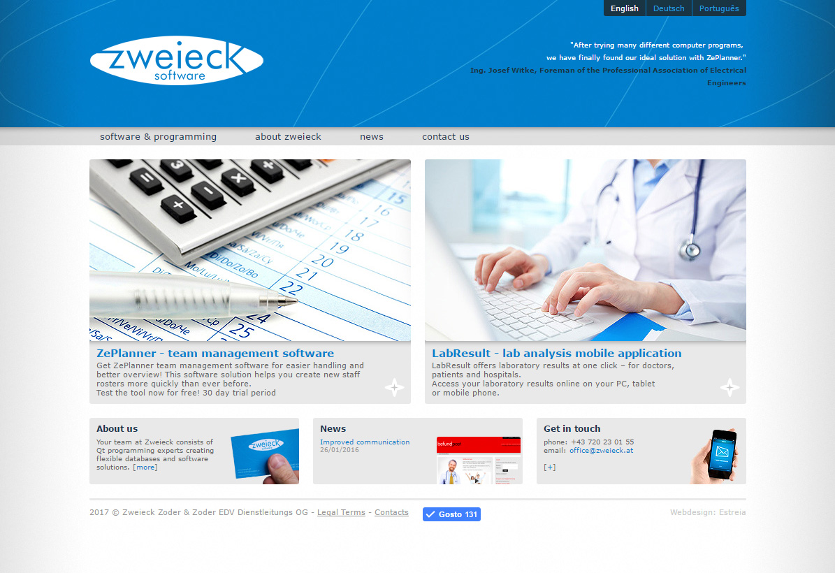 Zweieck Software Site